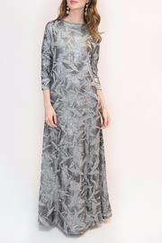 Maya's Place Crinkle Foil Dress - Front cropped