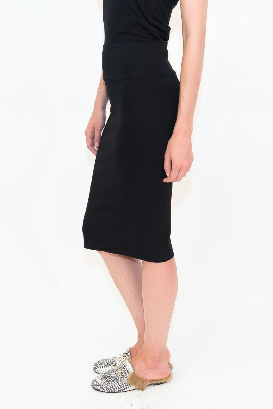 Maya's Place Knee-Length Pencil Skirt - Back Cropped Image