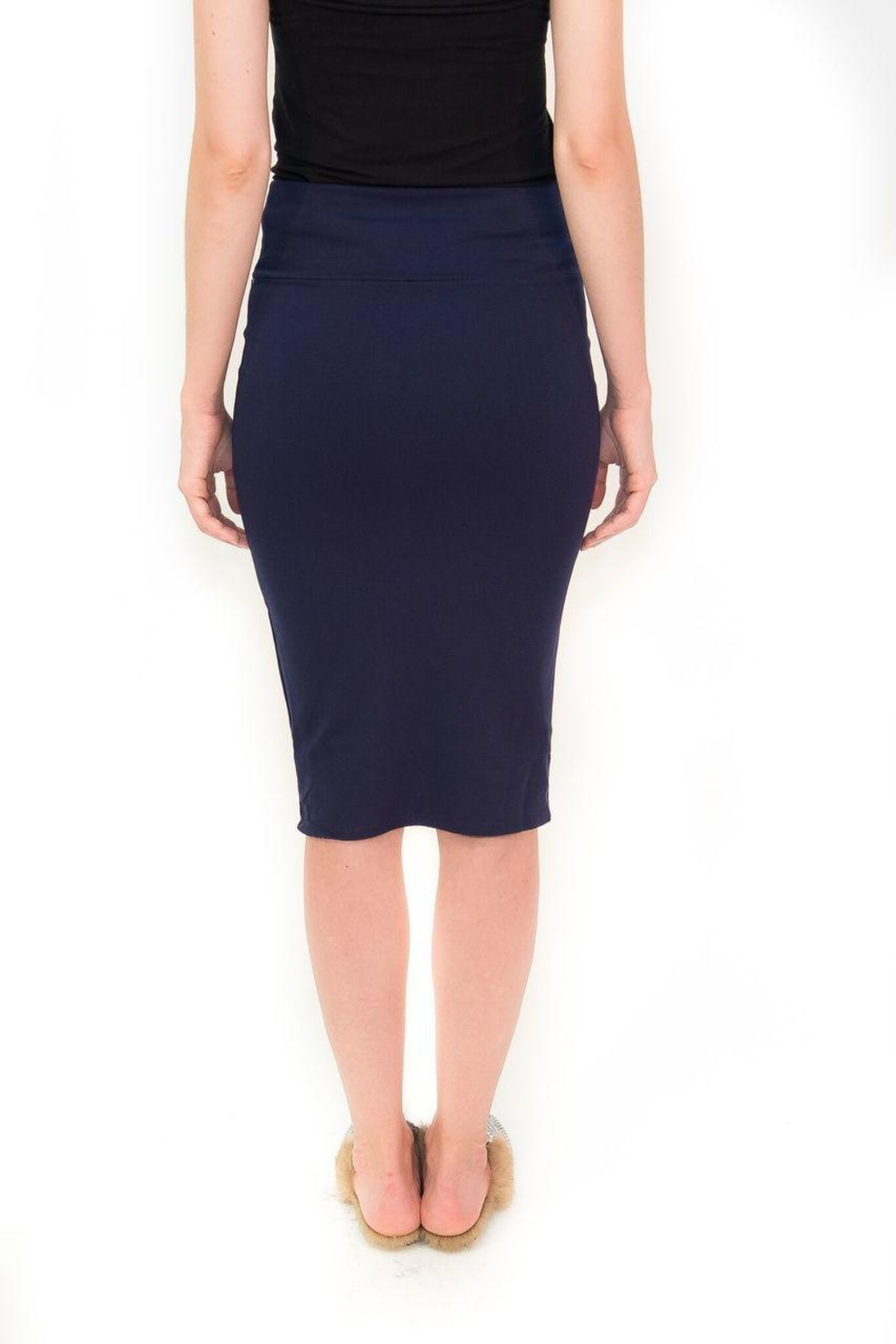 Maya's Place Knee-Length Pencil Skirt - Side Cropped Image