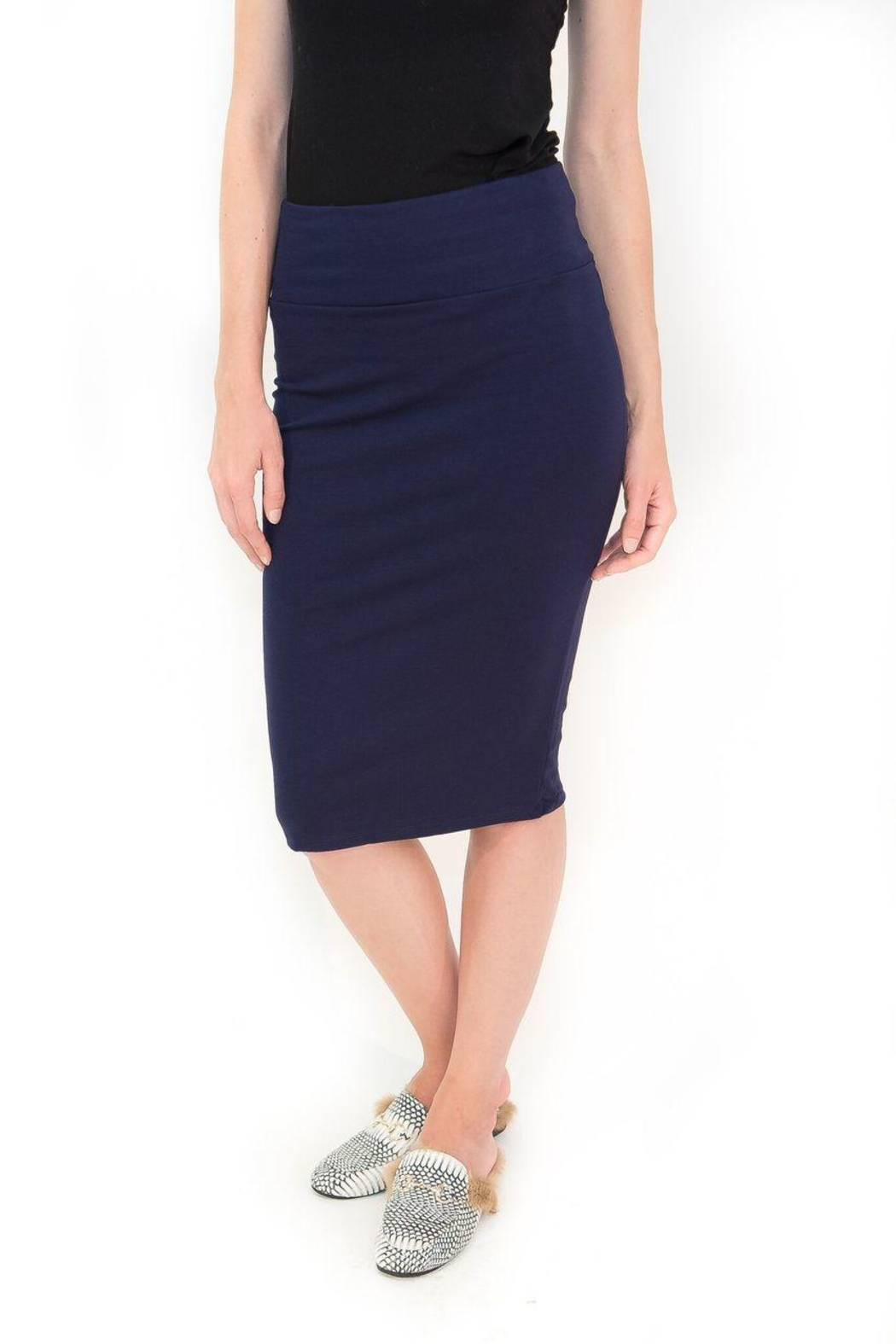 Maya's Place Knee-Length Pencil Skirt - Front Full Image