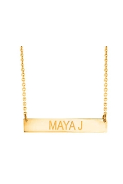 Maya J Bar Name Necklace - Alternate List Image