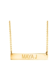 Maya J Bar Name Necklace - Front cropped