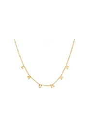 Maya J Dangle Letter Name Necklace - Front cropped