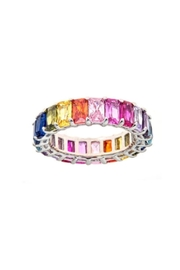 Maya J Emerald Eternity Rings - Product Mini Image