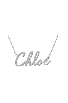 Maya J Script Name Necklace - Alternate List Image