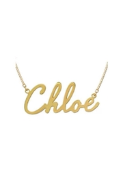 Maya J Script Name Necklace - Front cropped