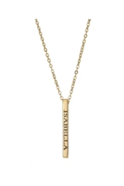 Maya J Vertical Bar Name Necklace - Front cropped