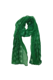 Mayil Scarves Embroidered Chiffon Scarf - Front cropped