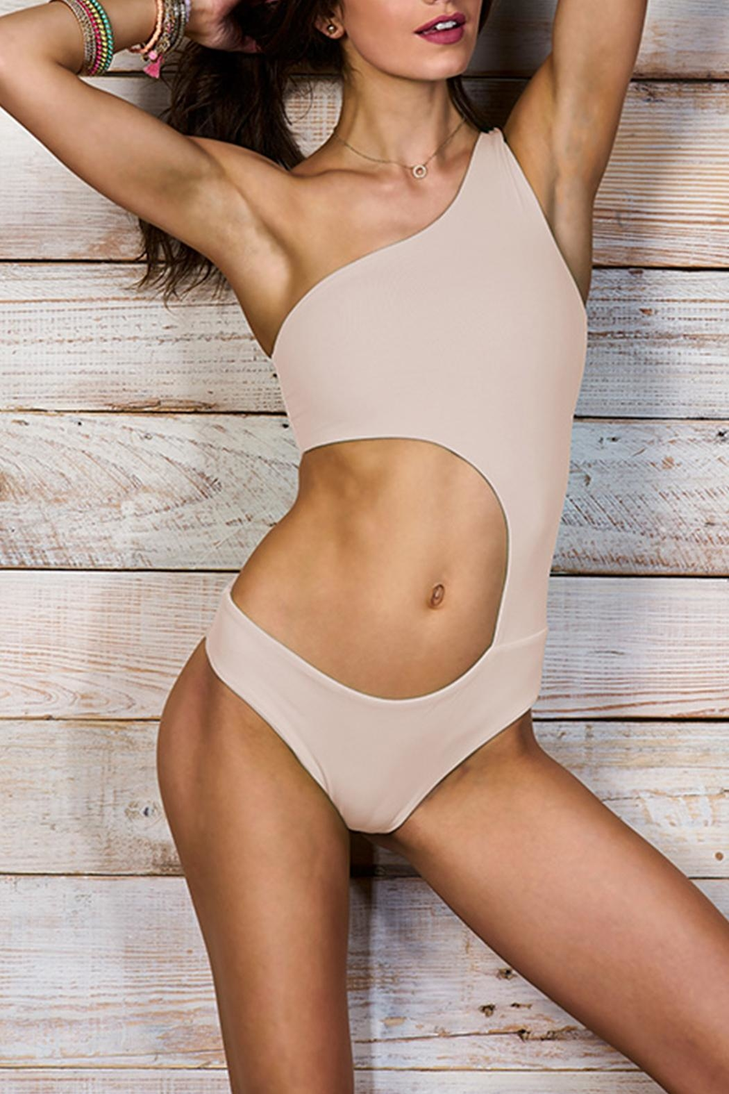 2e31c4b5261 Maylana Swimwear Alden Beige Onepiece from Florida by The Orchid ...