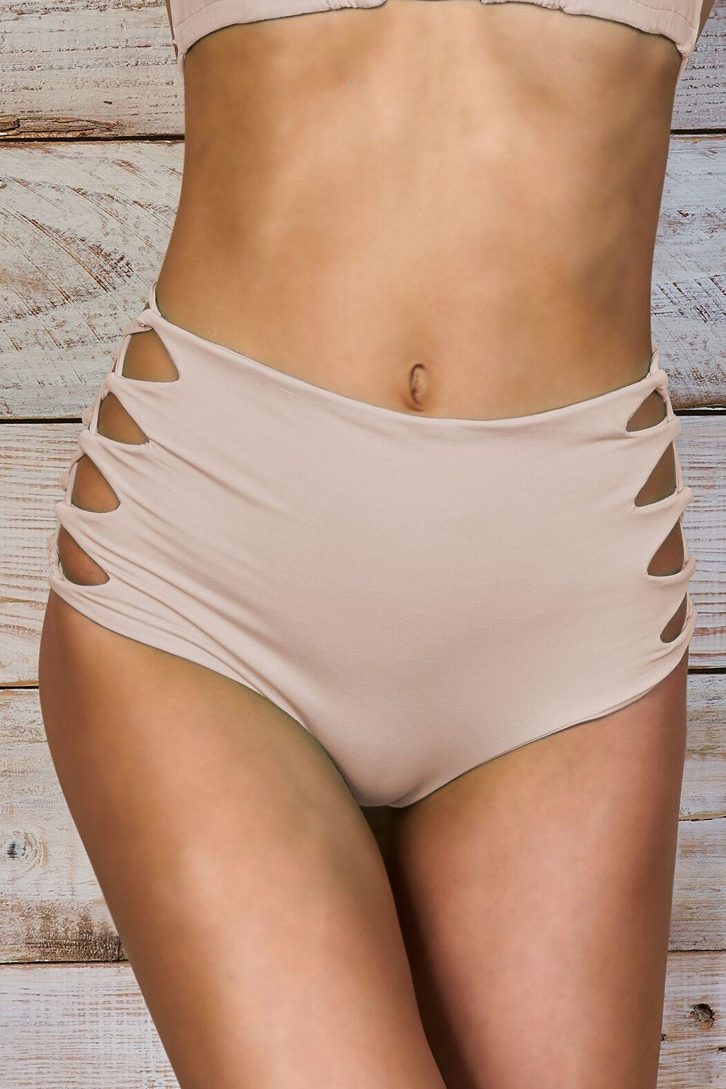 Maylana Swimwear Dayja Beige Bottom - Front Full Image