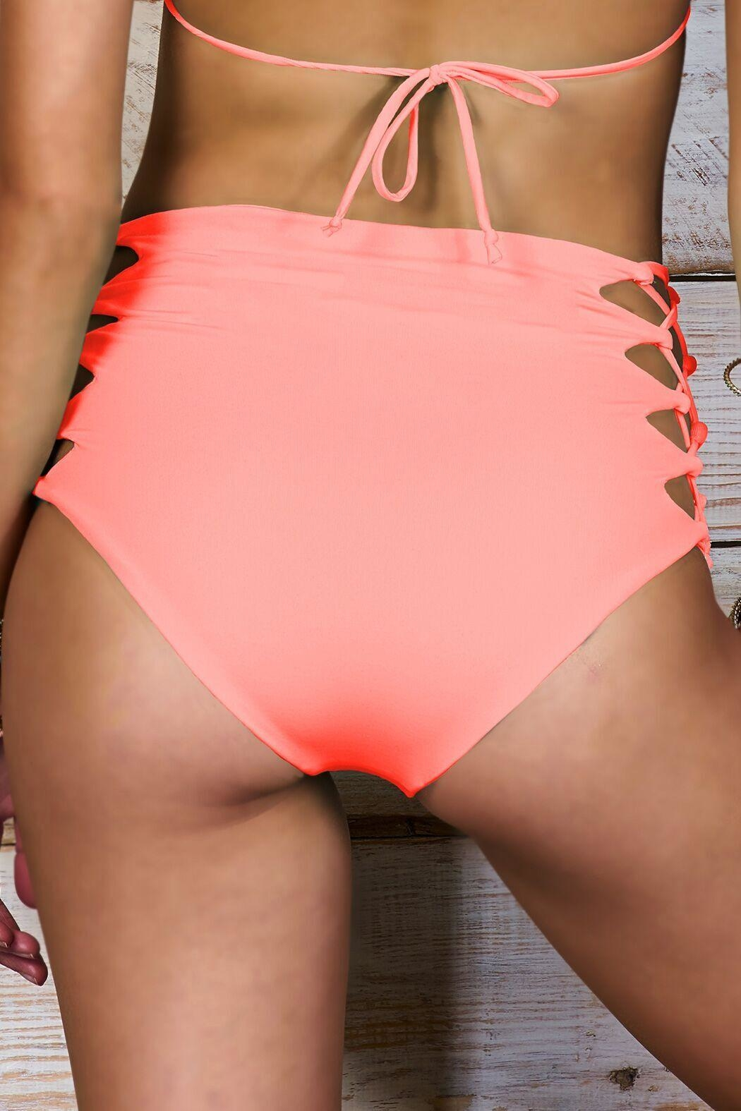 Maylana Swimwear Dayja Peach Bottom - Side Cropped Image