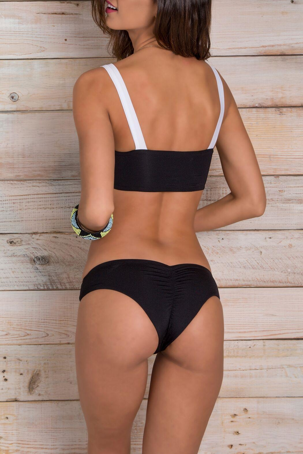Maylana Swimwear Sosa Multi-Black Top - Front Full Image