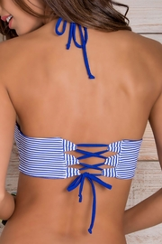 Maylana Swimwear Stevie Blue-Stripes Top - Back cropped