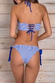 Maylana Swimwear Stevie Blue-Stripes Top - Front full body