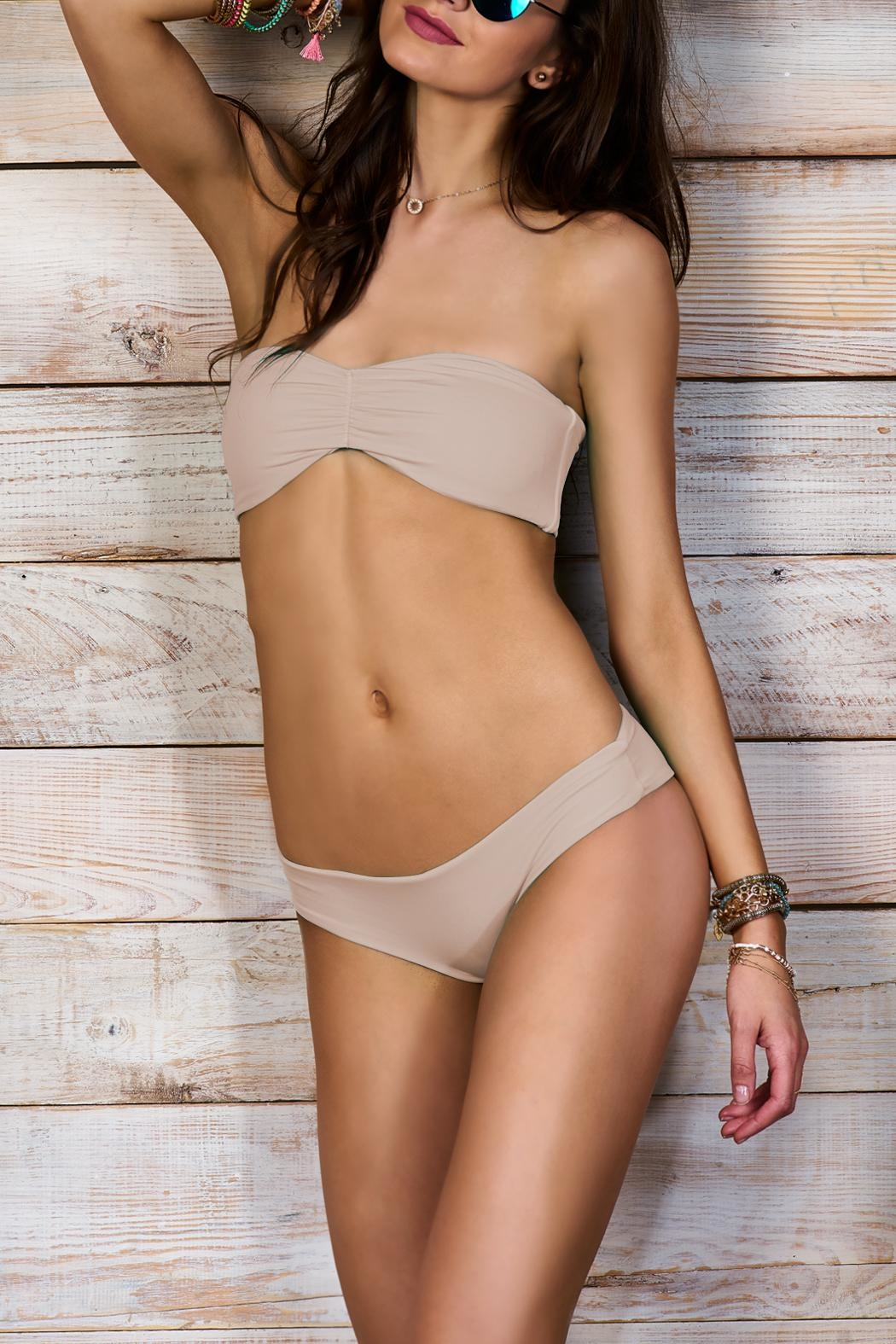 Maylana Swimwear Verena Beige Top - Front Cropped Image