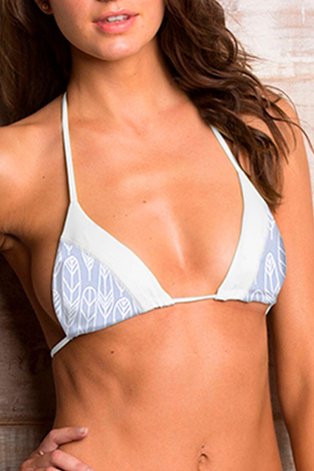 Maylana Swimwear Willa Gray Top - Side Cropped Image