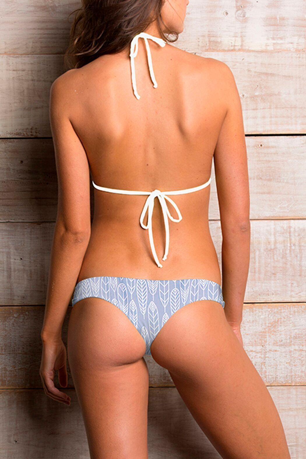 Maylana Swimwear Willa Gray Top - Front Full Image