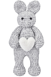 MAYLILY Maylily Bunny Friend Love Heart Knitted Toy For Newborn - Product Mini Image