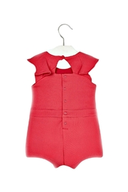 Mayoral All-In-One Retro-Style Fuschia-Knit-Romper - Side cropped