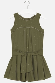 Mayoral Army-Green Crêpe Romper - Product Mini Image