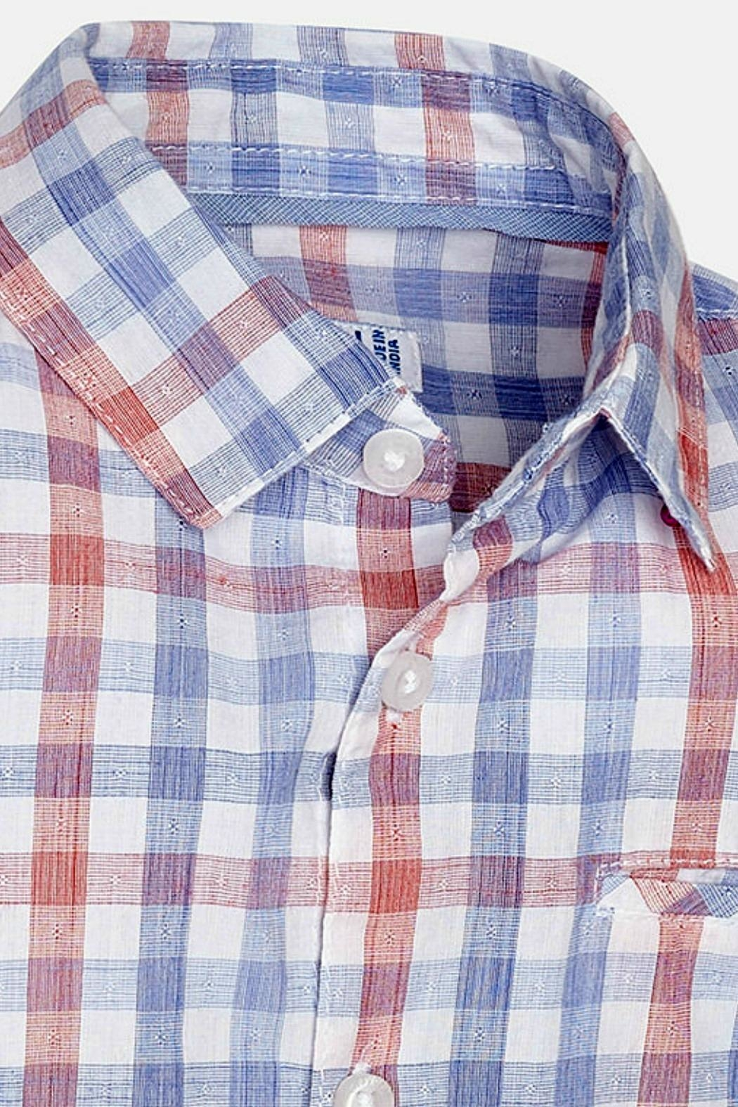 Mayoral Baby-Boy Long-Sleeve-Checked Shirt - Front Full Image