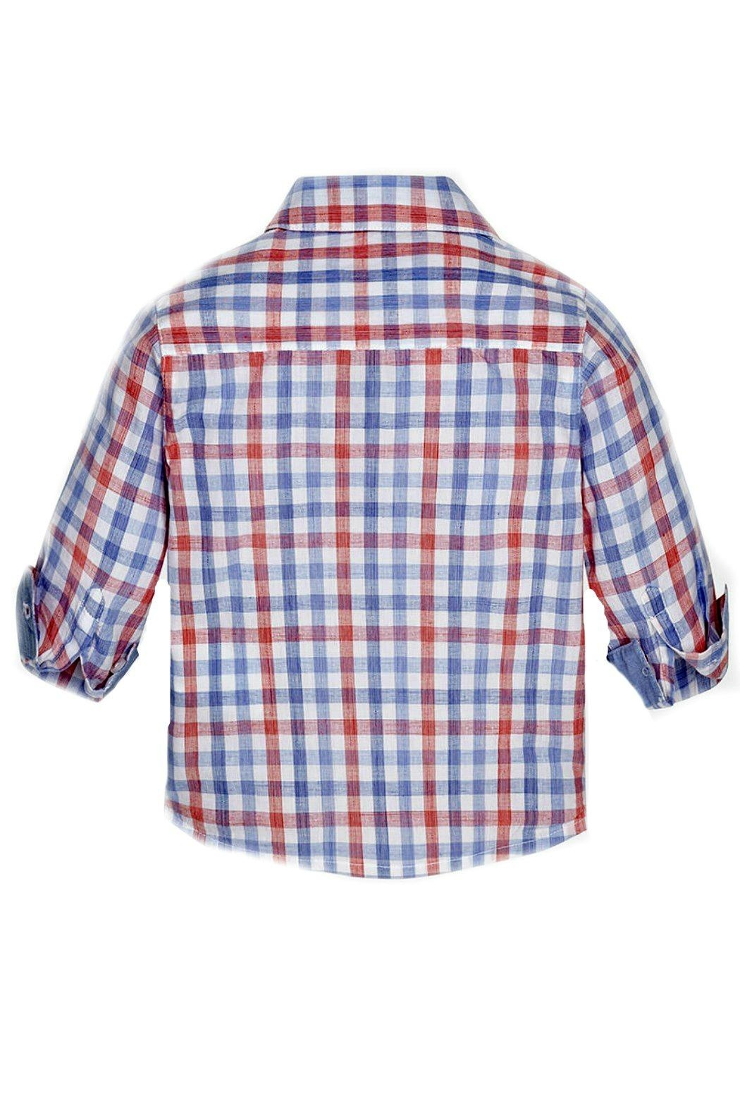 Mayoral Baby-Boy Long-Sleeve-Checked Shirt - Side Cropped Image