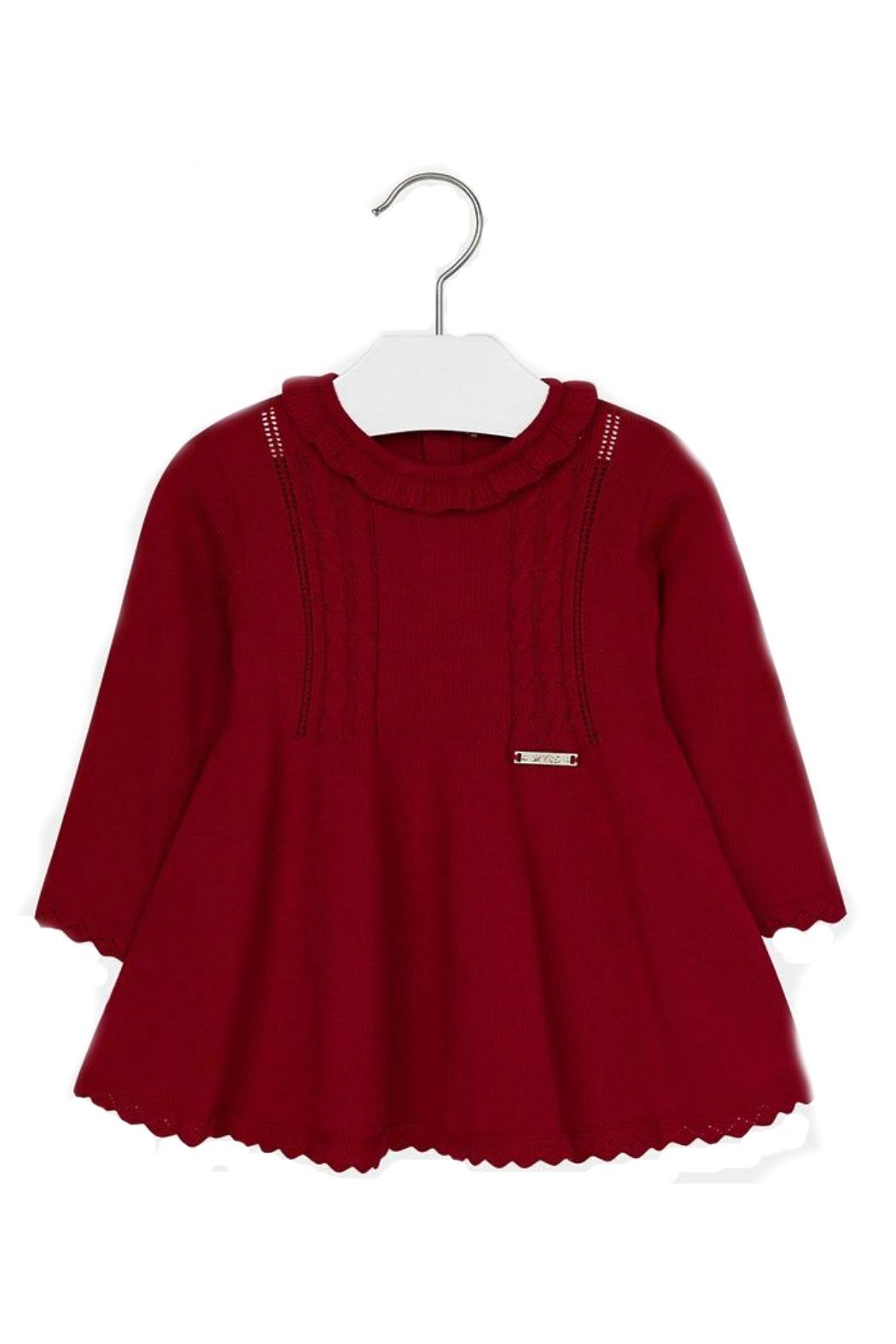 575f849481ec Mayoral Baby-Girl Red-Knit Dress from Florida by Tugboat   the Bird ...