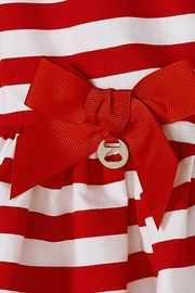 Mayoral Baby-Girl Red-White-Stripe-Poplin Dress - Side cropped