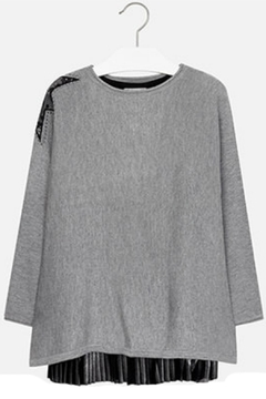 Shoptiques Product: Black-Grey Overlay Dress