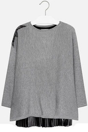 Mayoral Black-Grey Overlay Dress - Product Mini Image