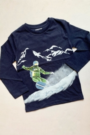 Mayoral Black Snowboarder Tee - Front cropped