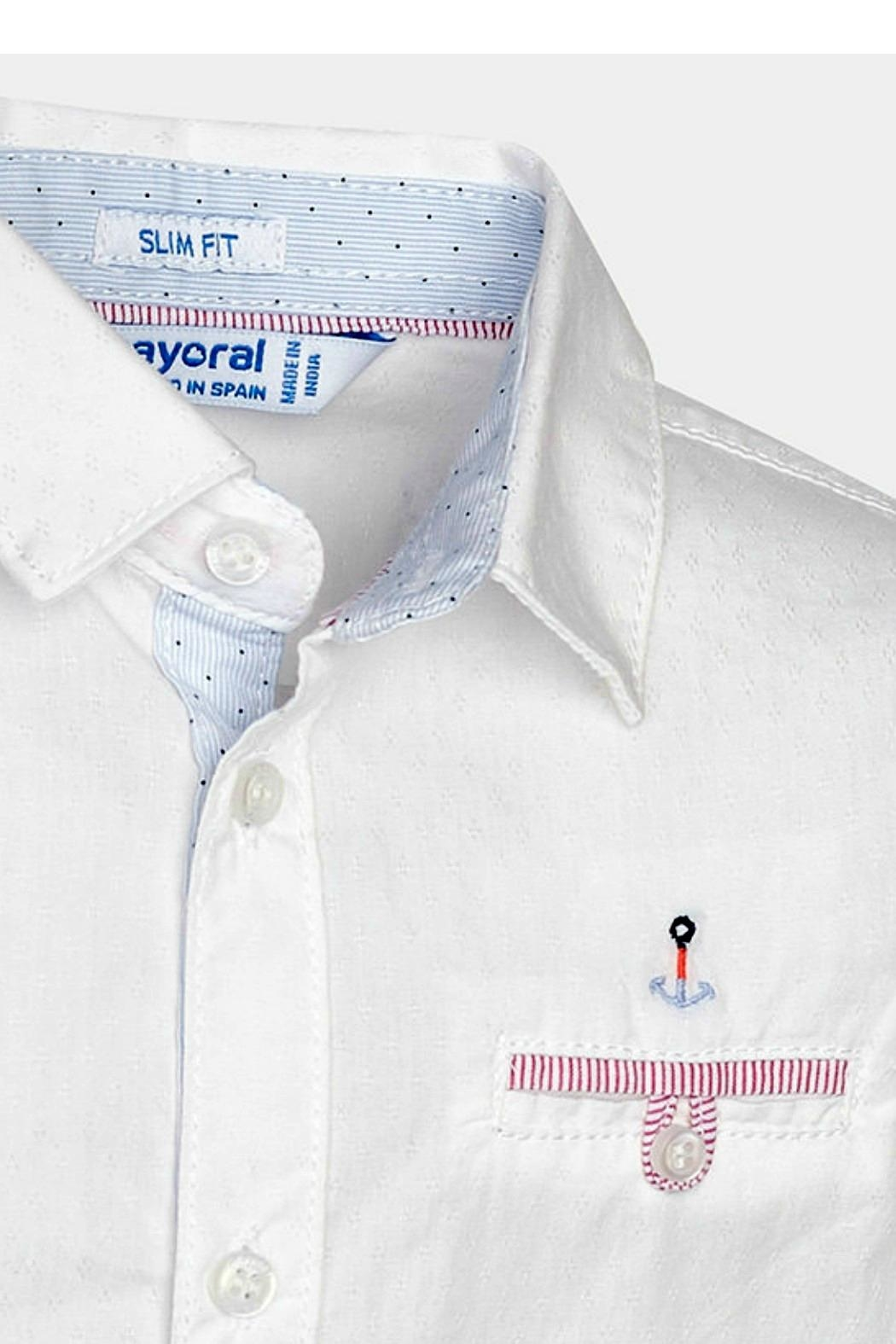 Mayoral Boys Anchors-Away Button-Down-Shirt - Side Cropped Image