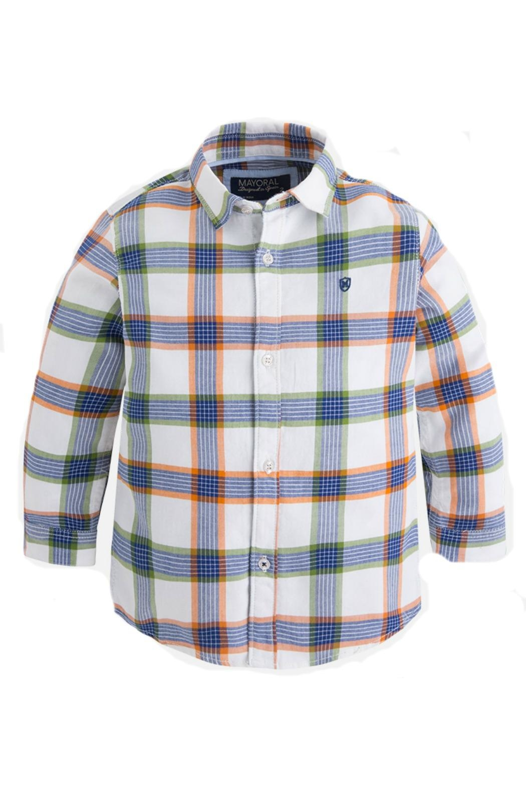 Mayoral Boys Checked Shirt - Front Cropped Image