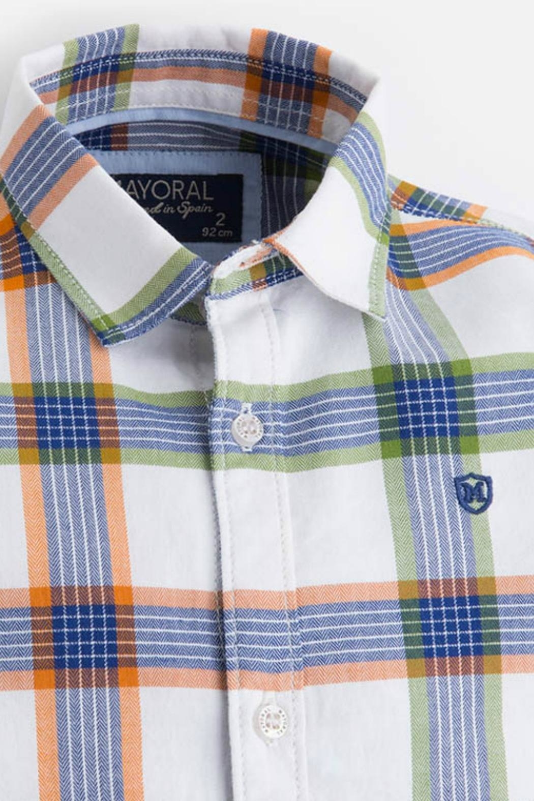 Mayoral Boys Checked Shirt - Side Cropped Image