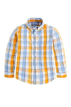 Shoptiques Product: Boys Checked Slim-Fit-Shirt
