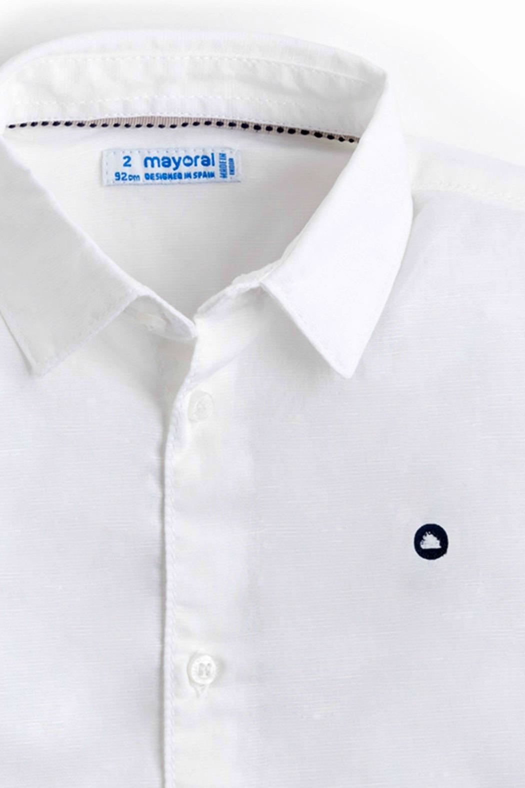 Mayoral Boys Linen-Shirt-Short Set - Front Full Image