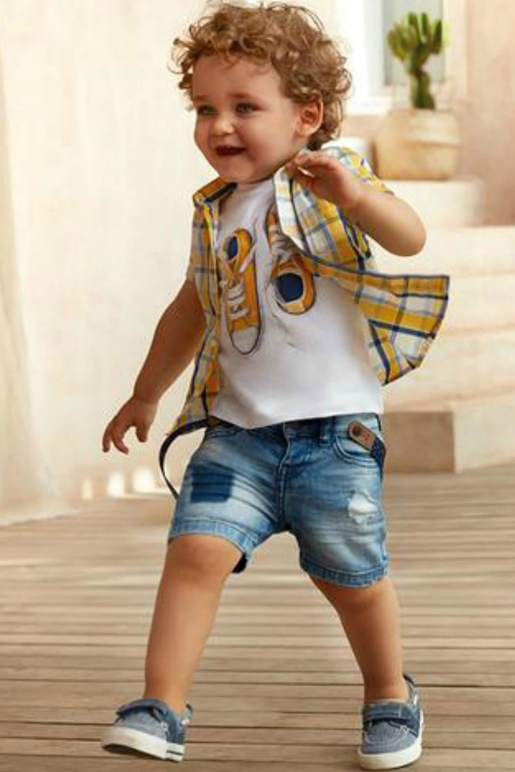 Mayoral Boys Nautical Denim-Boat-Shoes - Front Full Image