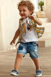 Mayoral Boys Nautical Denim-Boat-Shoes - Front full body
