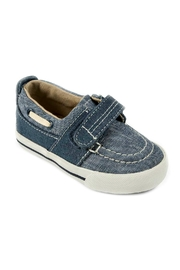 Mayoral Boys Nautical Denim-Boat-Shoes - Front cropped