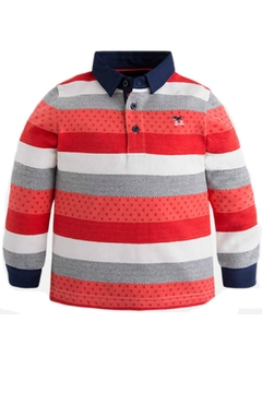 Shoptiques Product: Boys Red-Striped Polo