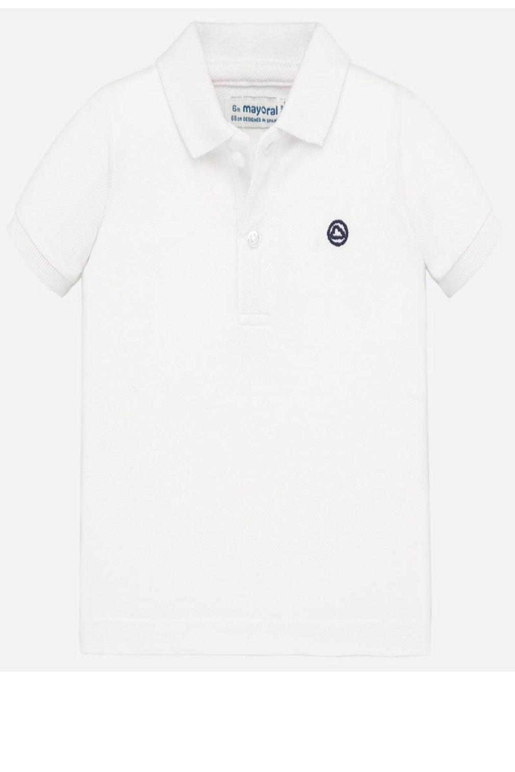 Mayoral Boys White Polo - Front Cropped Image
