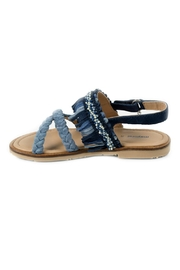Mayoral Braided Leather-Fringed Sandals - Front cropped