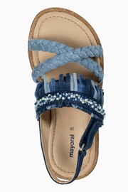 Mayoral Braided Leather-Fringed Sandals - Side cropped