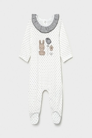 Mayoral Bunny Footed Onsie - Front cropped