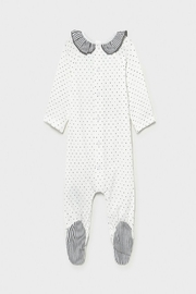 Mayoral Bunny Footed Onsie - Front full body