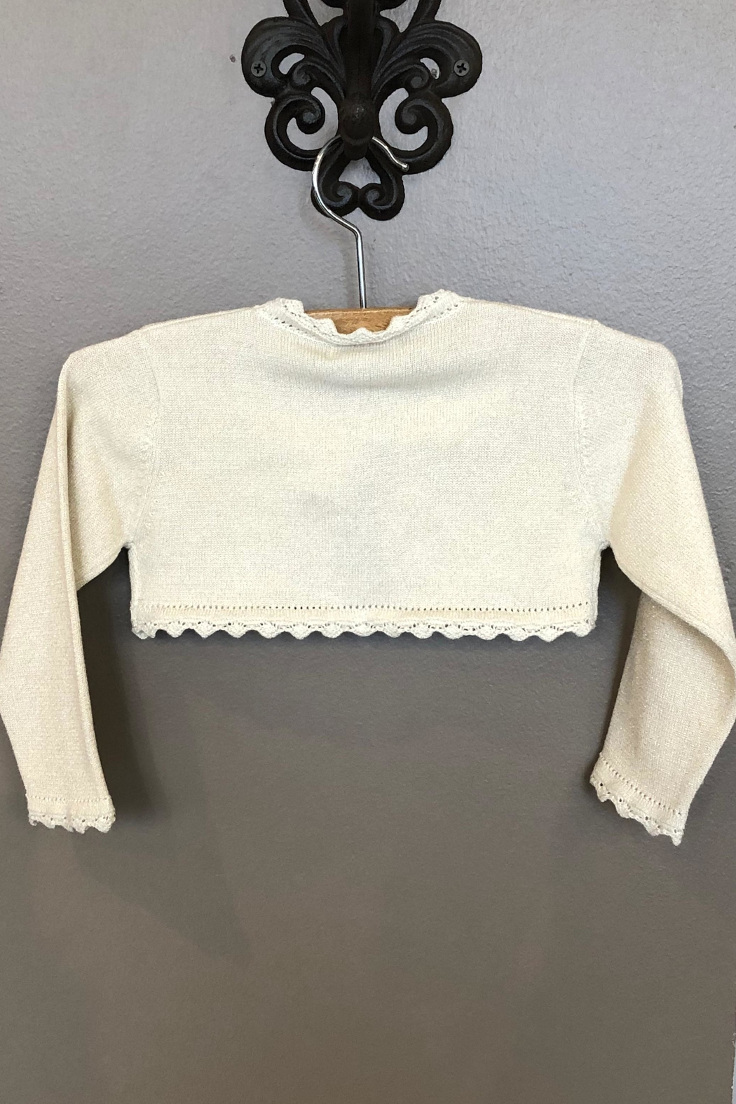 Mayoral Champagne Knitted Cardigan - Front Full Image