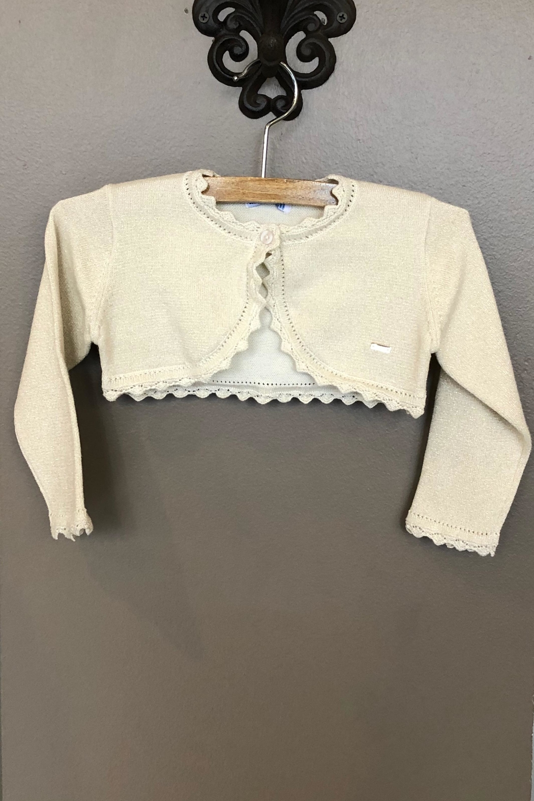 Mayoral Champagne Knitted Cardigan - Main Image