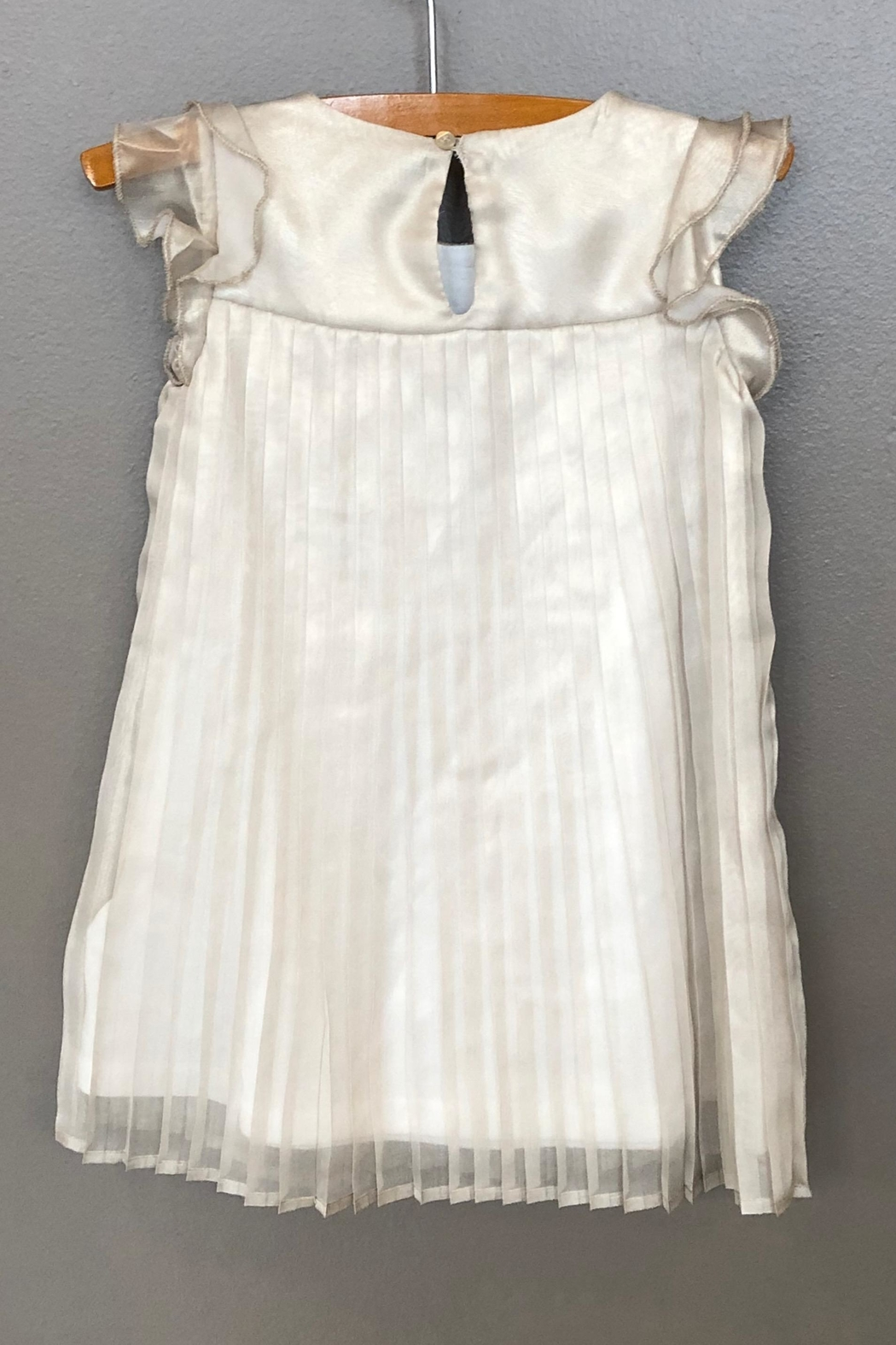 Mayoral Champagne Pleated Dress - Front Full Image