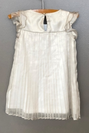 Mayoral Champagne Pleated Dress - Front full body