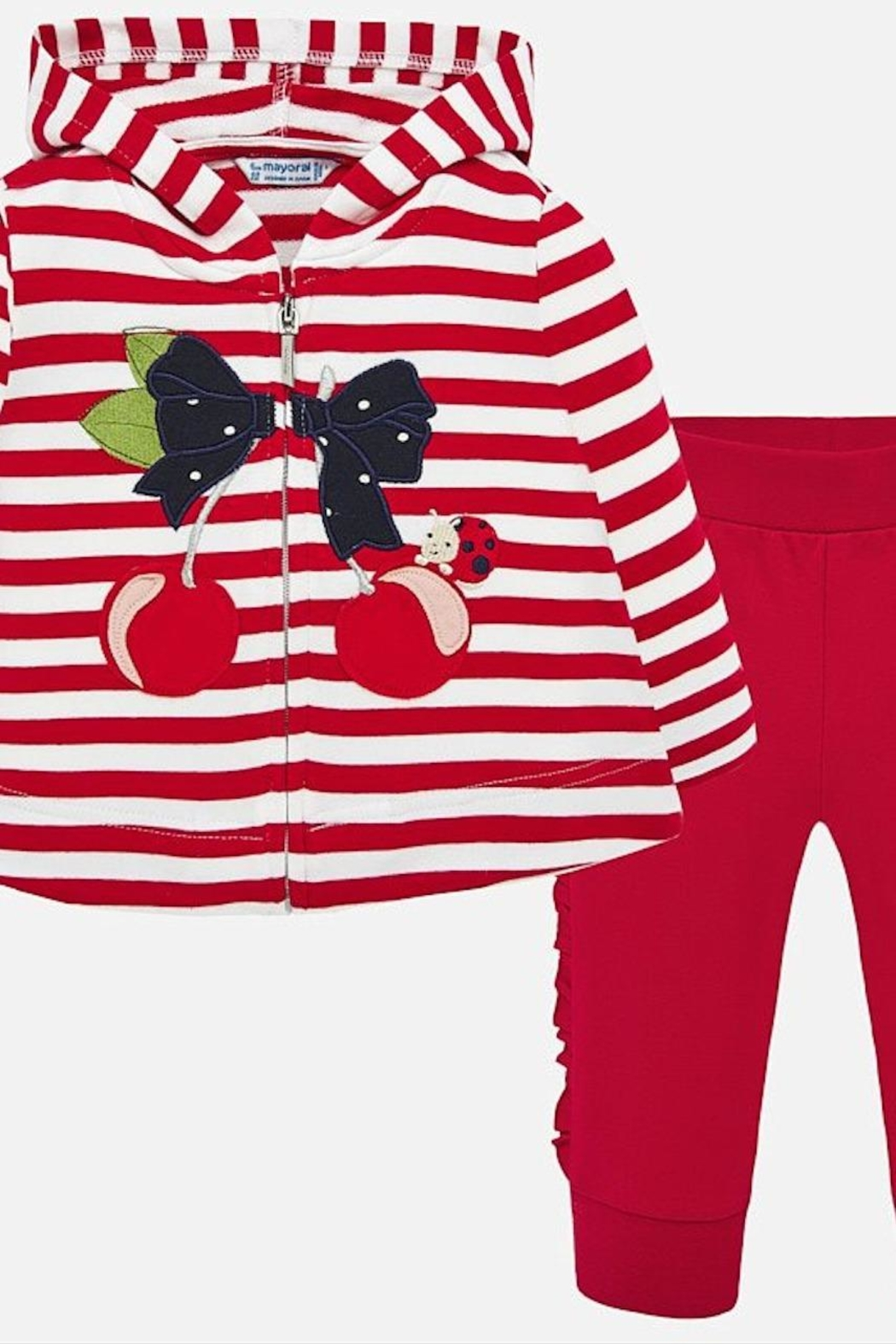 Mayoral Cherry Stripe Outfit - Main Image